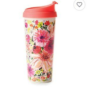 Kate Spade Dahlia Floral Thermal Travel Mug Cup nw